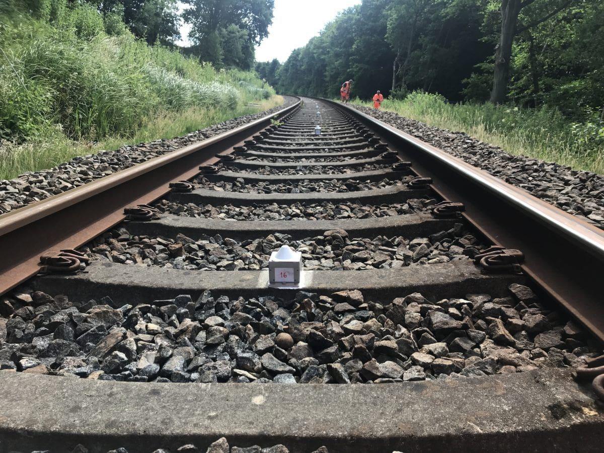 Tilt sensors on track